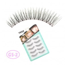 Eyelashes hand-woven Japanese natural style transparent stems elongated eye tail wholesale