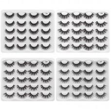 Factory direct sale 10 pairs of new handmade eyelashes, 3D imitation mink hair, false eyelashes, naturally slender