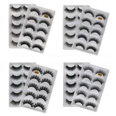 5 pairs of new 3D imitation mink false eyelashes handmade natural thick eyelashes factory direct sales