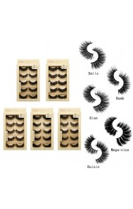 Long and slender natural mink false eyelashes 3d soft eyelashes factory outlet