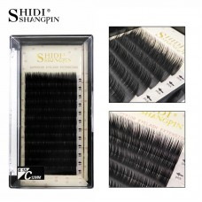 Round hair hand-closed grafting false eyelashes natural fiber planting eyelashes 12 rows [new black box]