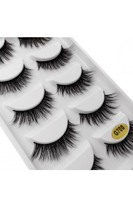 Cross-border hot style Shidi Shangpin natural false eyelashes 5 pairs set Eyelash extension eyelash makeup tool