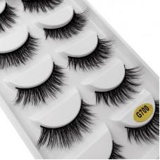Cross-border hot style Shidi Shangpin natural false eyelashes 5 pairs set Eyelash extension eyelash makeup tool