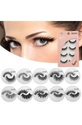 New product handmade mink false eyelashes natural slender and long three-dimensional multilayer eyelashes 4 pairs