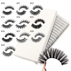 Cross-border hot sale 3D imitation mink hair 1 pair set Semi-finished false eyelashes Natural soft eyelashes beauty tool