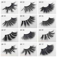 Hot-selling in Europe and America 25mm 6D mink fake eyelashes natural thick and lifelike eyelashes 1 pair