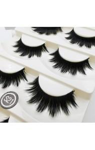 Stage effect thick and long false eyelashes fiber eyelashes 5 pairs set cross-border supply