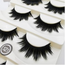 Stage effect thick and long false eyelashes fiber eyelashes 5 pairs set cross-border supply
