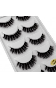 Cross-border source of new 5 pairs of natural stage makeup thick row of false eyelashes 3d mink eyelashes wholesale