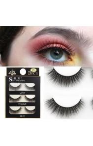 Shidi Shangpin three-dimensional mink eyelashes soft handmade European and American eyelashes 3d false eyelashes cross-border hot style