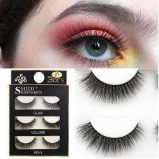 Shidi Shangpin three-dimensional mink eyelashes soft handmade European and American eyelashes 3d false eyelashes cross-border hot style