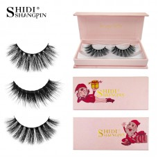 Christmas version cross-border hot sale #603d mink false eyelashes 1 pair of natural thick eyelashes