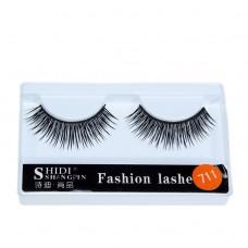 Cross-border source of natural curling false eyelashes 1 pair of plastic black stem stage performance thick eyelashes wholesale
