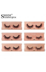 Shidi Shangpin real mink eyelashes 1 pair set natural European and American false eyelashes cross-border foreign trade curling eyelashes