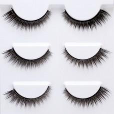 3 pairs of sharpened false eyelashes, nude makeup and elongated eyelashes at the end of the eye L01 eyelashlist