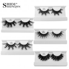 25mm mink false eyelashes 3D three-dimensional thick and slender curling handmade eyelashes, extended cross-section eyelashes