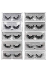 Poetry is a pair of 3d mink false eyelashes, cross-border hot selling eyelashes, no logo support customization