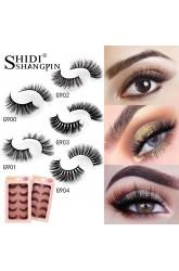 Shidi Shangpin foreign trade false eyelashes 3d mink hair natural thick eyelashes 5 pairs set cross-border supply
