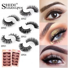 Shidi Shangpin foreign trade false eyelashes 3d mink hair natural thick eyelashes 5 pairs set cross-border supply