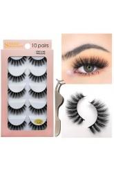 Shidi Shangpin 3d mink false eyelashes 10 pairs set MINK thick eyelashes Amazon foreign trade explosion