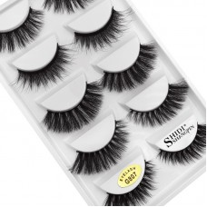 5 pairs of new 3d mink eyelashes, mixed set of thick false eyelashes, cross-border explosion of beauty tools