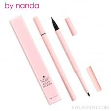 by nanda crystal double-headed quick-drying hard-headed liquid eyeliner pen waterproof, sweat-proof, non-smudge eyeliner