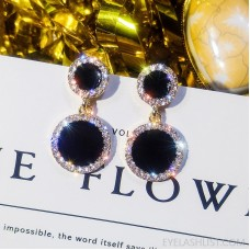 925 silver four-leaf clover earrings Korean temperament fashion classic diamond earrings star love round personality earrings