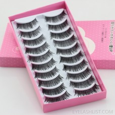 005 new export Japanese and Korean false eyelashes 2018 hot sale little devil natural nude makeup short cross