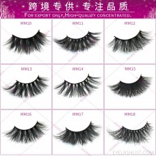 25mm3D mink hair thick and long eyelashes cotton stalk amazon source net celebrity hot models amazon direct supply
