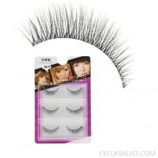 False eyelashes 3d eyelashes 0.05 coarse hair, natural soft and transparent stem 3 pairs amazon3D-05