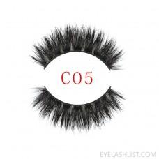 amazon new product 3DC05 mink false eyelashes European and American export soft natural high-end false eyelashes