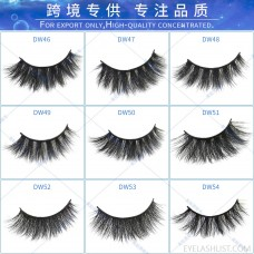 3D mink false eyelashes cross eyelashes thick and exaggerated hot sale net celebrity hot sale in Europe and America