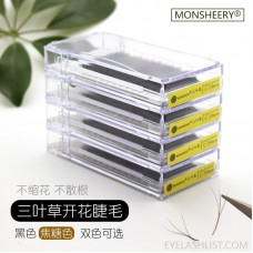 Monsheery new 0.05 pull box clover grafted eyelashes ebay false eyelashes custom amazon spot