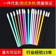 Spot disposable lip brush portable makeup brush lip brush stick nylon lip brush head mini lipstick brush makeup tool