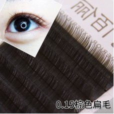 0.15 Coarse fashion caramel color matt flat hair grafting eyelashes planting brown eyelashes natural curling amazon batch