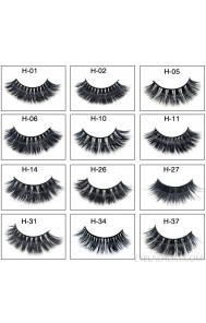 Mink false eyelashes 3D three-dimensional multi-layer thick cross eyelashes amazon source eyelashes mink