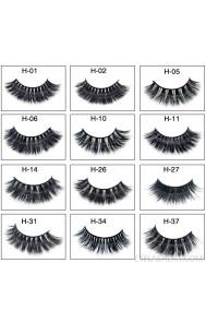 Mink false eyelashes 3D three-dimensional multi-layer thick cross eyelashes amazon source eyelashes mink