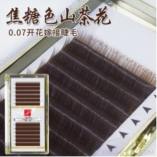 0.07 caramel color camellia eyelashes color blooming grafting planting false eyes brown brown amazon