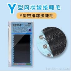 OEM Amazon direct Y-shaped grafting eyelashes 0.07 thick holiday eyelashes knitting eyelashes network best-selling models