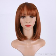 amazon supplies trendy wigs, short hair, straight hair, fluffy bangs, full wigs, and headgear can be customized