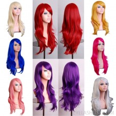amazon sales spot cos long curly anime European and American wig color long curly hair anime wig headgear ebay