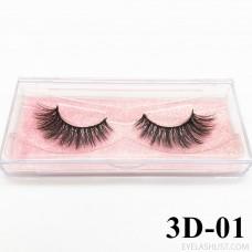 Eyelashes Amazon direct 3D high imitation mink chemical fiber false eyelashes 3D Faux mink eyelashes