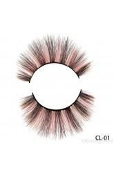 Direct supply from amazon Hand-woven new mink velvet handmade color false eyelashes thick natural eyelashes
