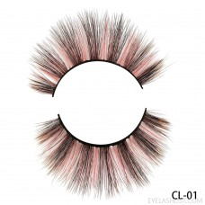 Direct supply from amazon Hand-woven new mink velvet handmade color false eyelashes thick natural eyelashes