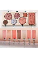 Huaxizi seven-color green luan embossed makeup palette/carved eye shadow palette high-gloss pearlescent blush multi-function palette