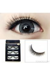 3D three-dimensional false eyelashes natural light makeup super realistic comfortable rolls of scholastic bride makeup eyelashes