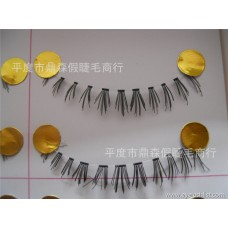 Factory wholesale Taiwan handmade false eyelashes Japanese eyelashes Wing style lower eyelashes transparent stem F-10