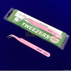 100% genuine VETUS stainless steel tweezers pink CS-15 with anti-counterfeiting logo Grafting planting eyelashes