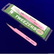100% genuine VETUS stainless steel tweezers pink CS-5A with anti-counterfeiting logo Grafting planting eyelashes