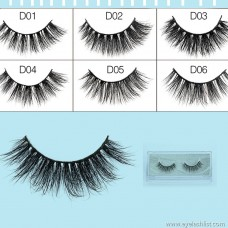 Factory wholesale 1 pair of water mink false eyelashes 3D stereo hand made false eyelashes eyelashes nature